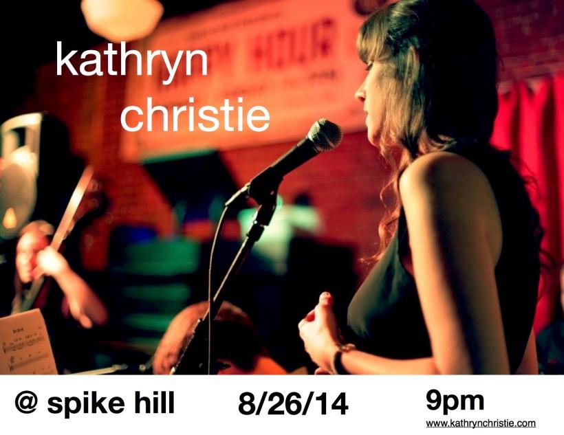 Kathryn Christie Flyer Spike Hill 8:26:14