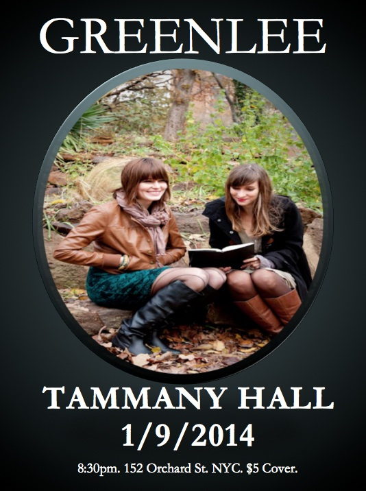 Greenlee at Tammany Hall- This Thursday!