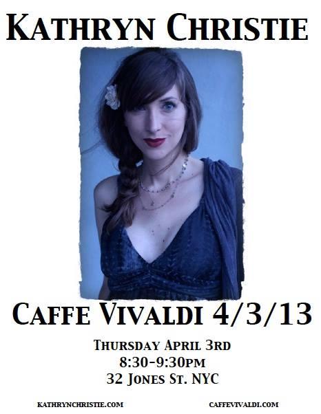 Kathryn Christie at Caffe Vivaldi